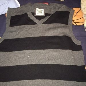 A nice vest gray and black striped
